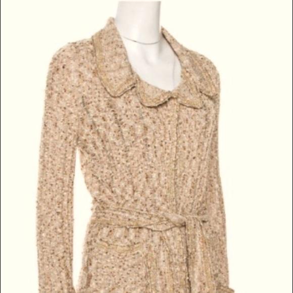 CHANEL vintage knit cardigan with belt size 44
